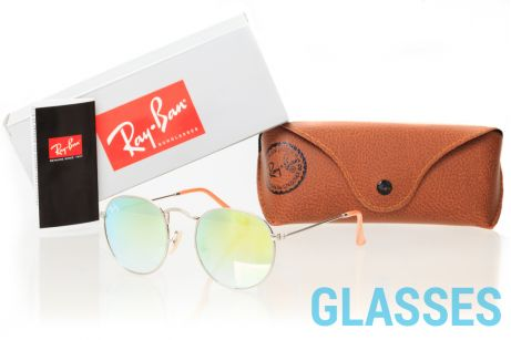 Ray Ban Round Metal 3447lime-silver